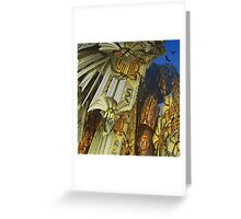 Flying above the golden rocks Greeting Card