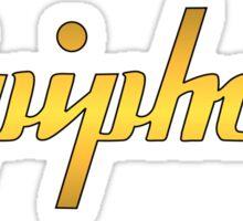 Gold Epiphone Sticker