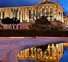 Elliptical reflection of the Academy of Athens by Hercules Milas