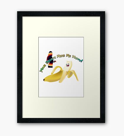Your Breasts Make Me Happy Framed Print