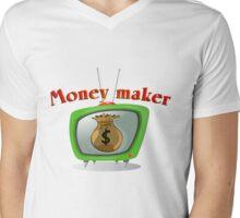 Money maker Mens V-Neck T-Shirt