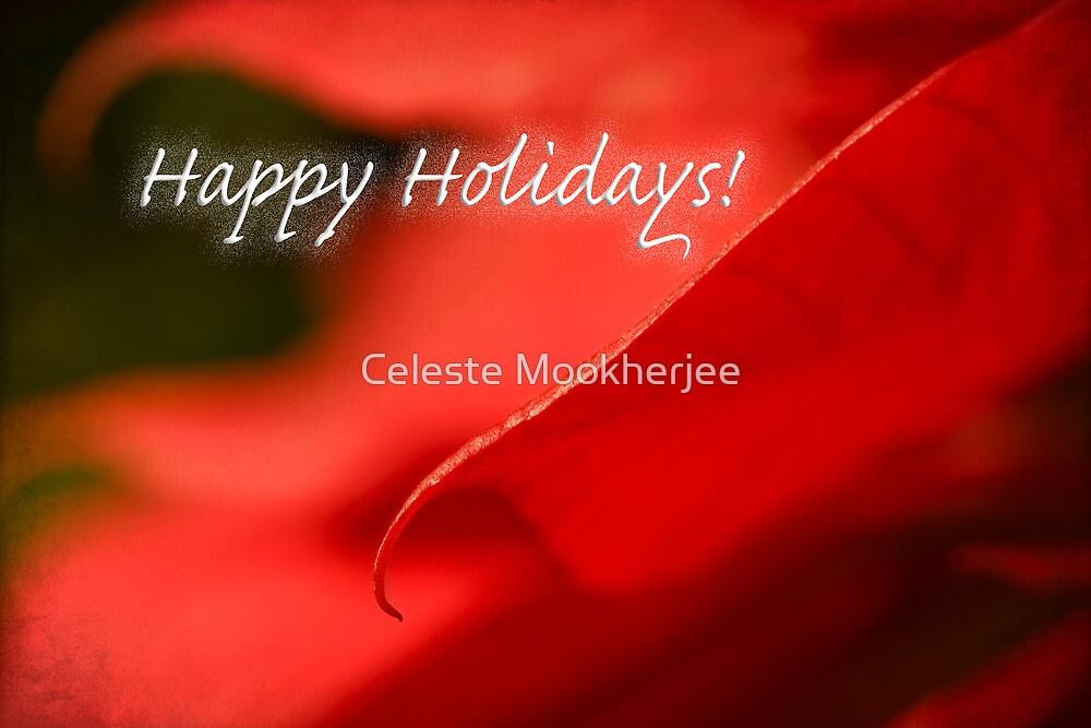 Poinsettia dreams - holiday card by Celeste Mookherjee