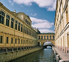 Saint Petersburg canal, around the Hermitage Museum, in the summertime, Russia by bethischeery