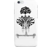 Black and white Pen pattern drawing1 iPhone Case/Skin