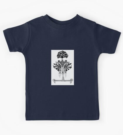 Black and white Pen pattern drawing1 Kids Tee