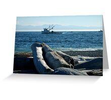 Fishing Boats at South Beach 2 (card) Greeting Card