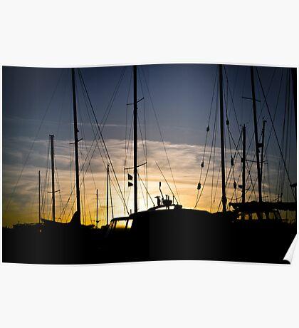 Sunset over Bangor Poster
