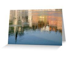 Rhone river reflection Greeting Card