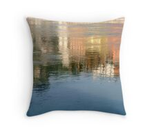 Rhone river reflection Throw Pillow