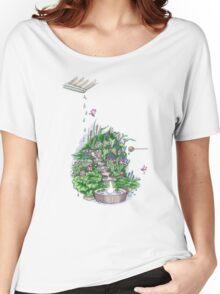 Flowform Edible Station Garden Women's Relaxed Fit T-Shirt