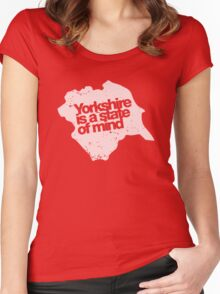 Yorkshire is a state of mind - White Women's Fitted Scoop T-Shirt