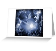 The garden at midnight Greeting Card