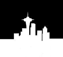 "Seattle Skyline ""My City's Filthy"" iPhone Case by Josh Marten"