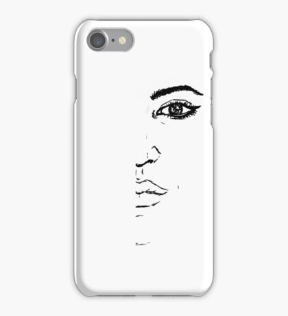 Black and white Pen pattern drawing3 iPhone Case/Skin