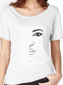 Black and white Pen pattern drawing3 Women's Relaxed Fit T-Shirt