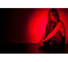 Red Light Girl Photographic Print