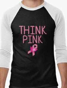 think pink Men's Baseball ¾ T-Shirt