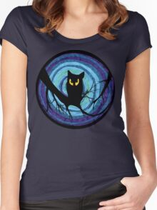 time for child stories: the EVIL OWL Women's Fitted Scoop T-Shirt