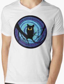 time for child stories: the EVIL OWL Mens V-Neck T-Shirt