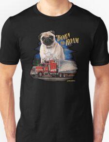 Pug Born to Roam T-Shirt
