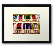 Colourful Windows Framed Print