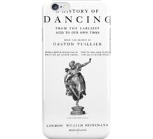 Gaston Vuillier A history of dancing iPhone Case/Skin