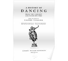 Gaston Vuillier A history of dancing Poster