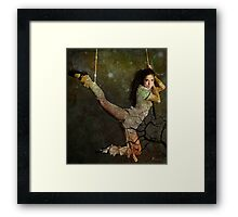 I AM WOMAN ~ I CHOOSE MY OWN HEIGHTS Framed Print
