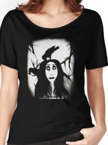 Her eyes so innocent... on hallowed ground. Women's Relaxed Fit T-Shirt