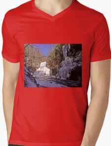 Cascade Frozen Mens V-Neck T-Shirt