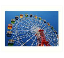 Ferris Wheel Colour Art Print
