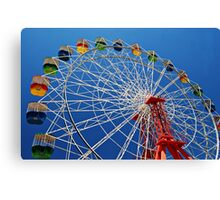 Ferris Wheel Colour Canvas Print