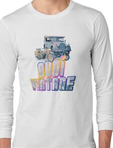 Vintage Audi car and Motorcycles Long Sleeve T-Shirt