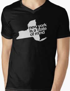 New York is a state of mind - Big - White Mens V-Neck T-Shirt