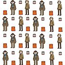 Sherlock Doodle iPhone case by geothebio