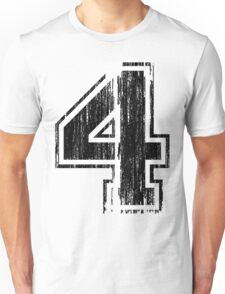 Bold Distressed Sports Number 4 Unisex T-Shirt