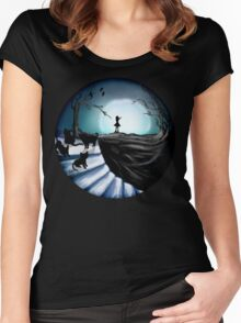 My Part to the Longest Illustration. Women's Fitted Scoop T-Shirt