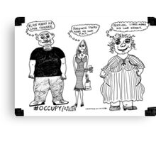 Occupy Fashion culture cartoon Canvas Print