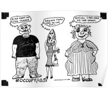 Occupy Fashion culture cartoon Poster