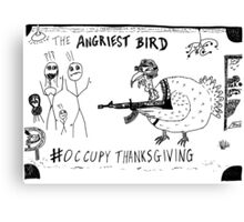 Occupy Thanksgiving editorial cartoon Canvas Print
