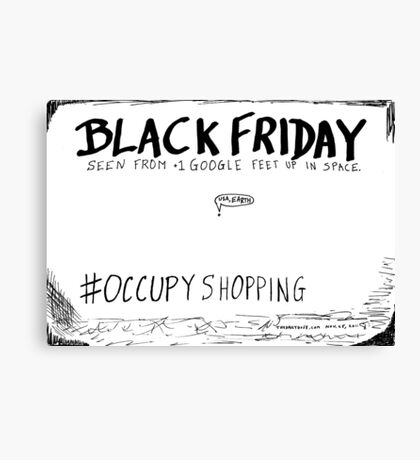 Occupy Shopping cartoon Canvas Print