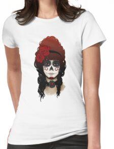 Sugar Skull Girl Womens Fitted T-Shirt
