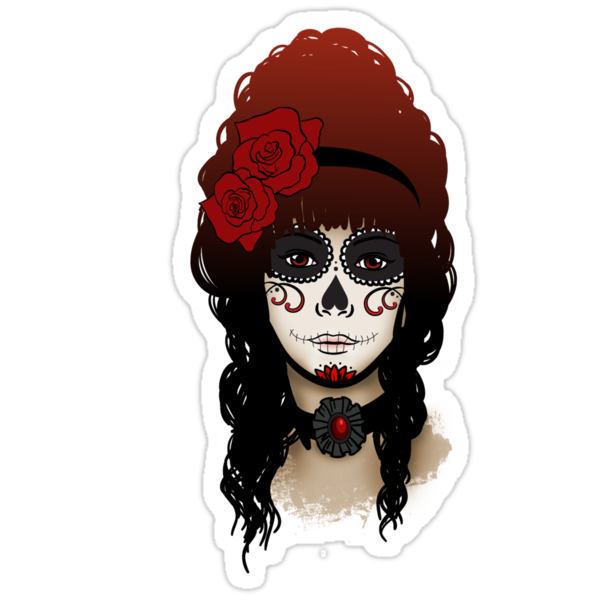 Sugar Skull Girl by Rebecca Barkley