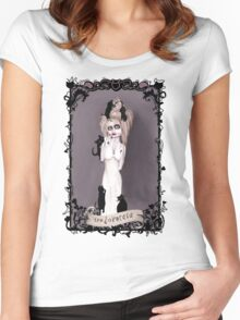 the Lovecats Women's Fitted Scoop T-Shirt