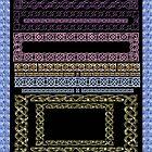 Crystal Celtic Borders Plate 2 ~ Decoupage Paper by MaryJaneBayliss