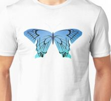 Blue butterfly drawing Unisex T-Shirt