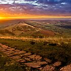 Sunrise On Mam Tor Derbyshire by Darren Burroughs