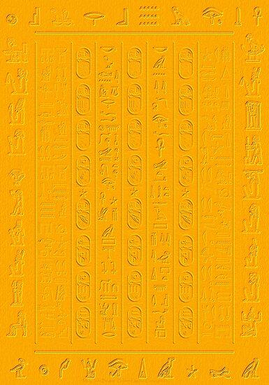 Golden Glyphs Decoupage Paper by MaryJaneBayliss