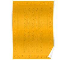 Golden Glyphs Decoupage Paper Poster