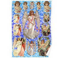 Old Fashioned Angels Deco Paper Poster